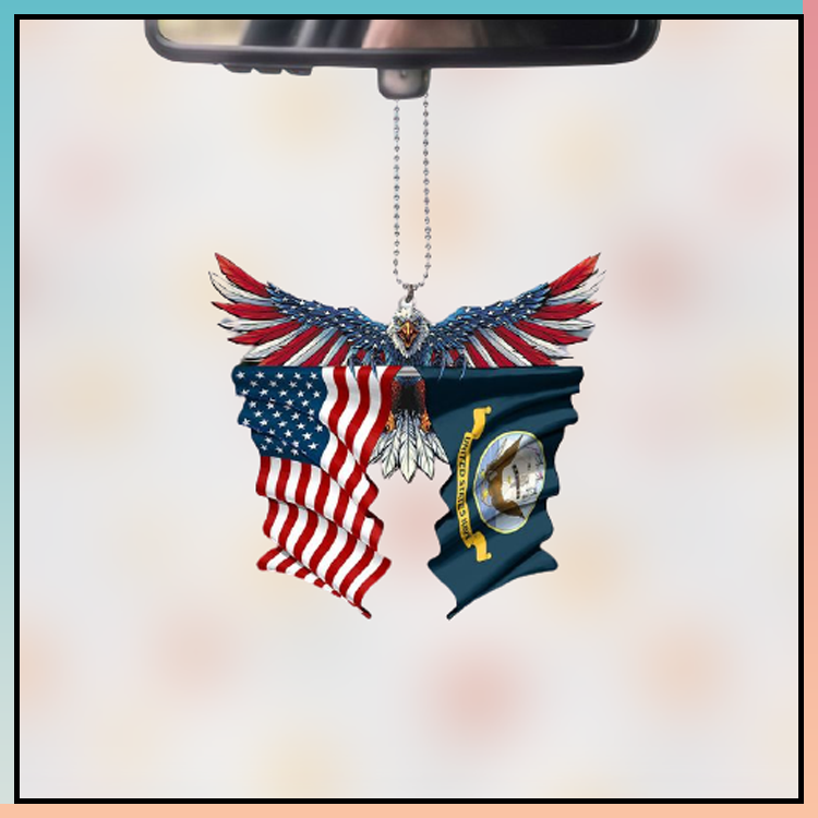 United State Navy American eagle car hanging ornament