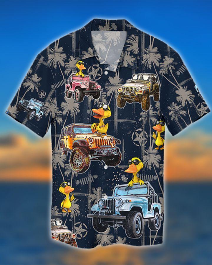 6 Jeep tropical navy duck hawaiian shirt and short 1