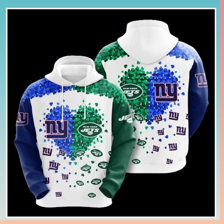 New york giants vs new york jets 3d over print hoodie