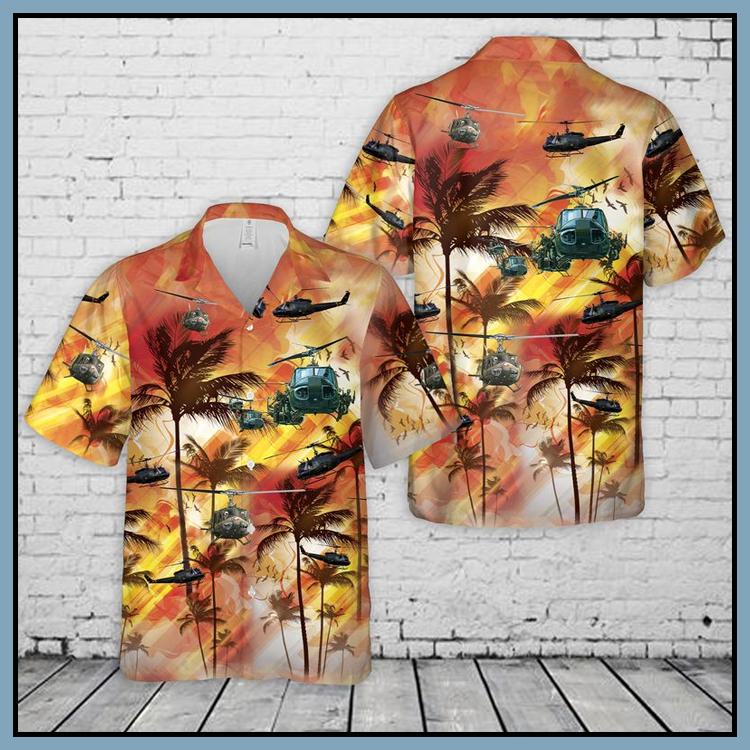 7 United States Army Huey Helicopter Hawaiian Shirt Shorts2