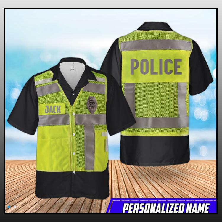 7 Us Police High Visibility Identification Vest Hawaiian Shirt 2