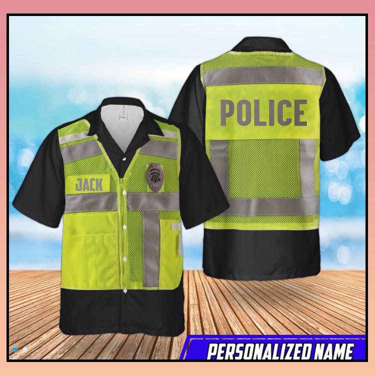 7 Us Police High Visibility Identification Vest Hawaiian Shirt 4