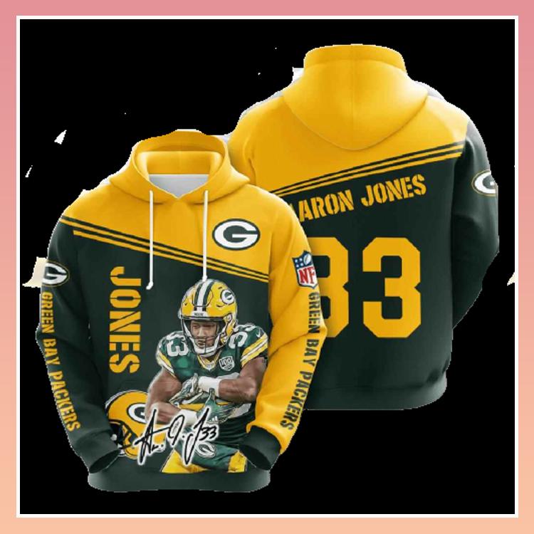 Green bay packers Aaron Jones 3d over print hoodie