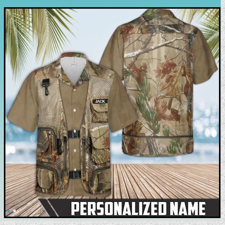 9 Hunting Tactical Camo Vest Hawaiian Shirt 1