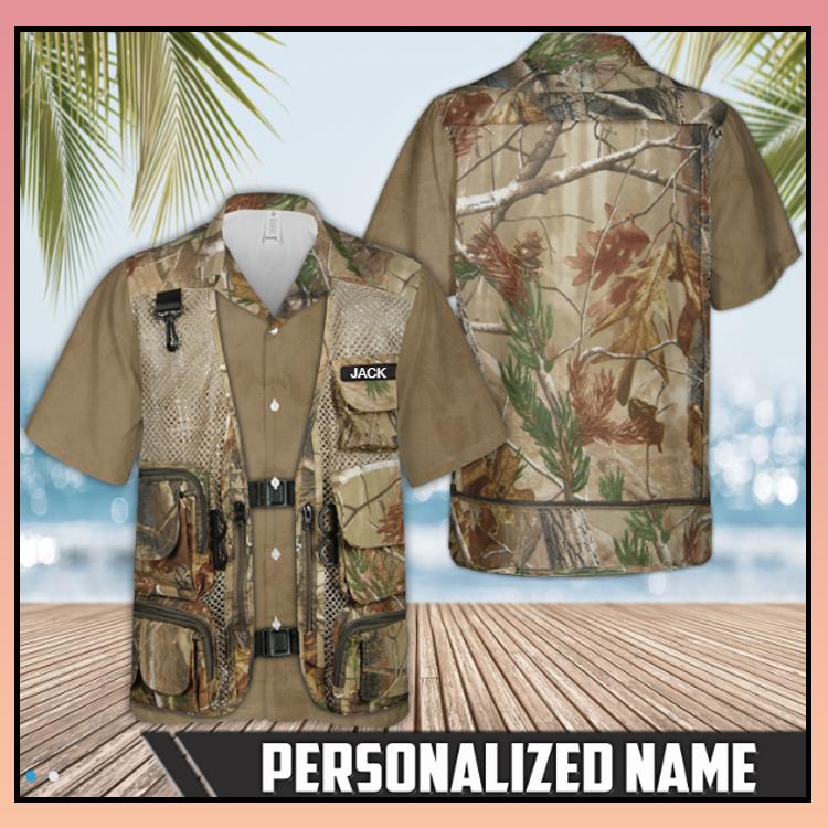 9 Hunting Tactical Camo Vest Hawaiian Shirt 4