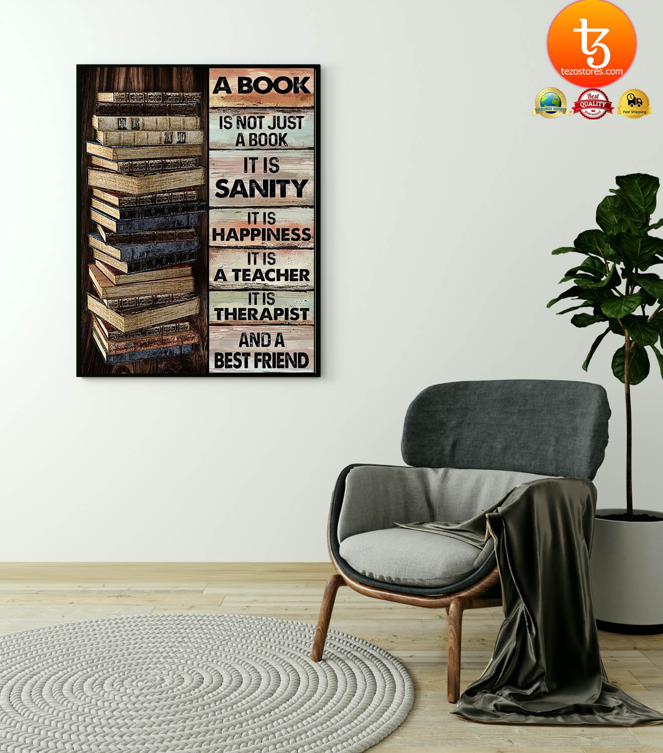 A book is not just a book it is sanity it is happiness poster 21
