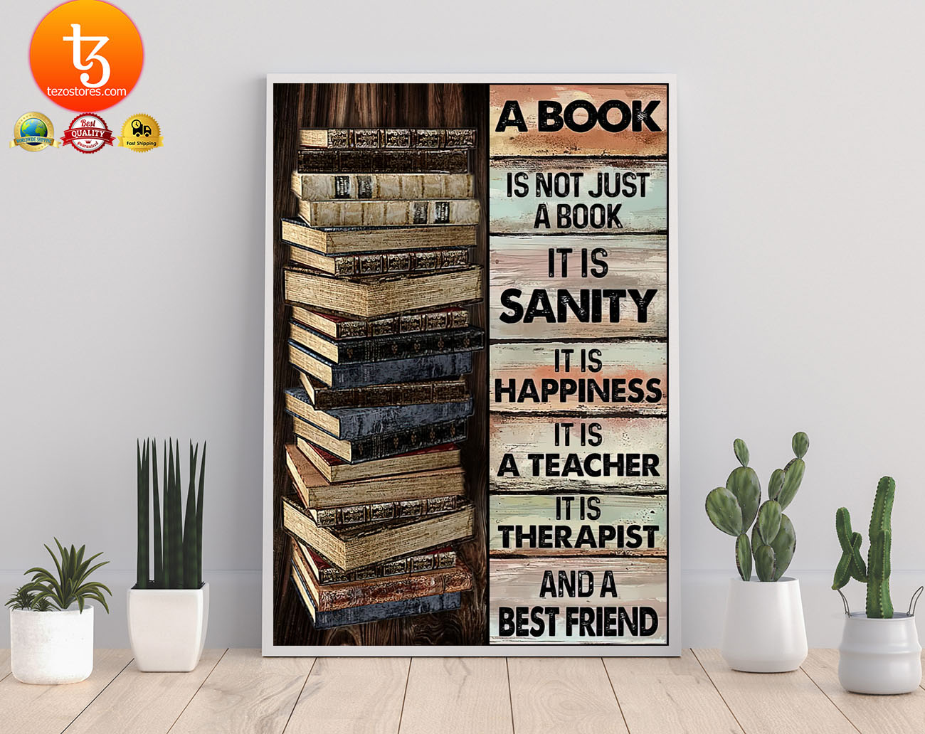 A book is not just a book it is sanity it is happiness poster 22