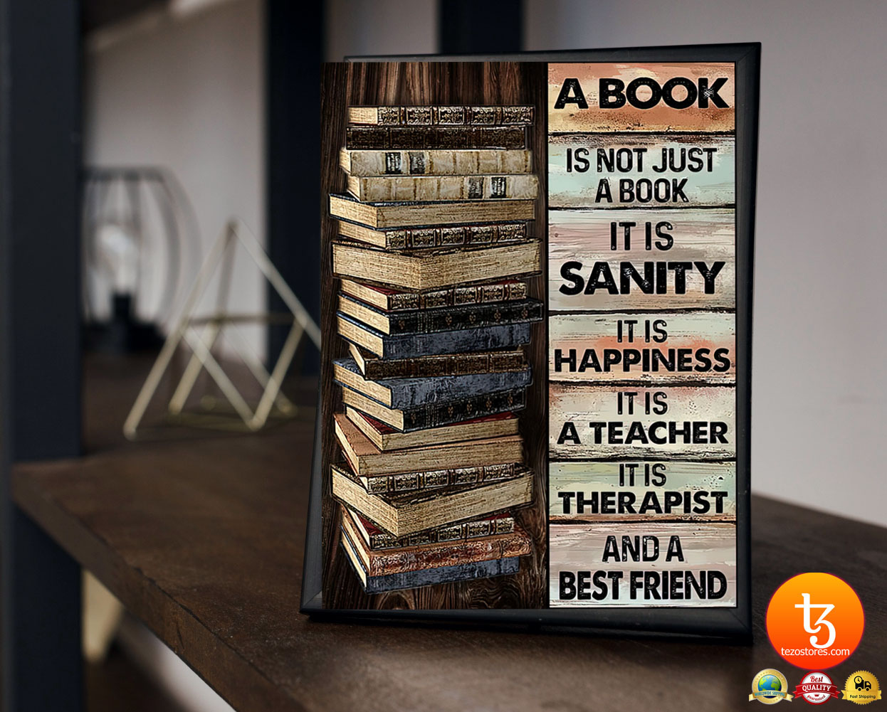 A book is not just a book it is sanity it is happiness poster 23