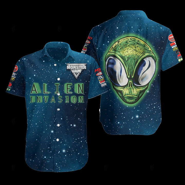 Alien Invasion Hawaiian Shirt