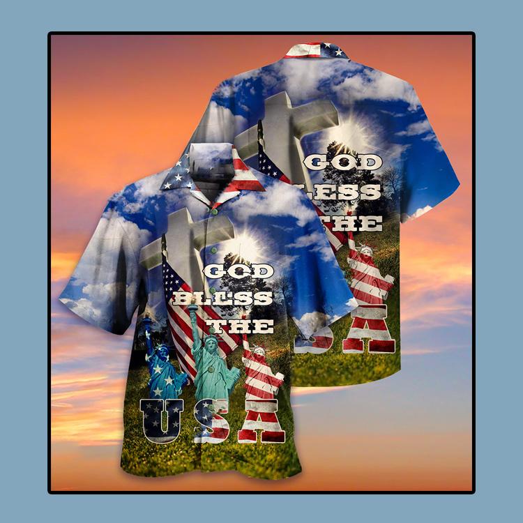 America God bless the USA Hawaiian shirt4
