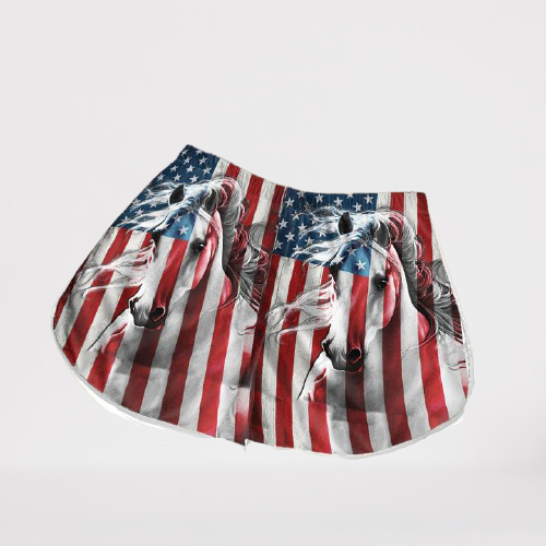 American Flag Horse Hawaii Shorts2