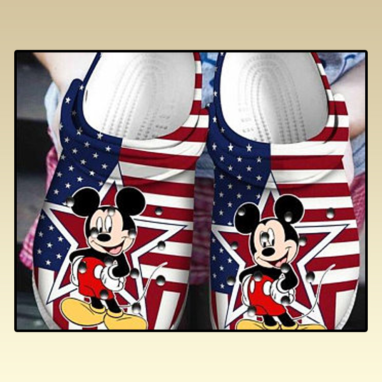 American Flag Mickey Mouse croc crocband shoes2