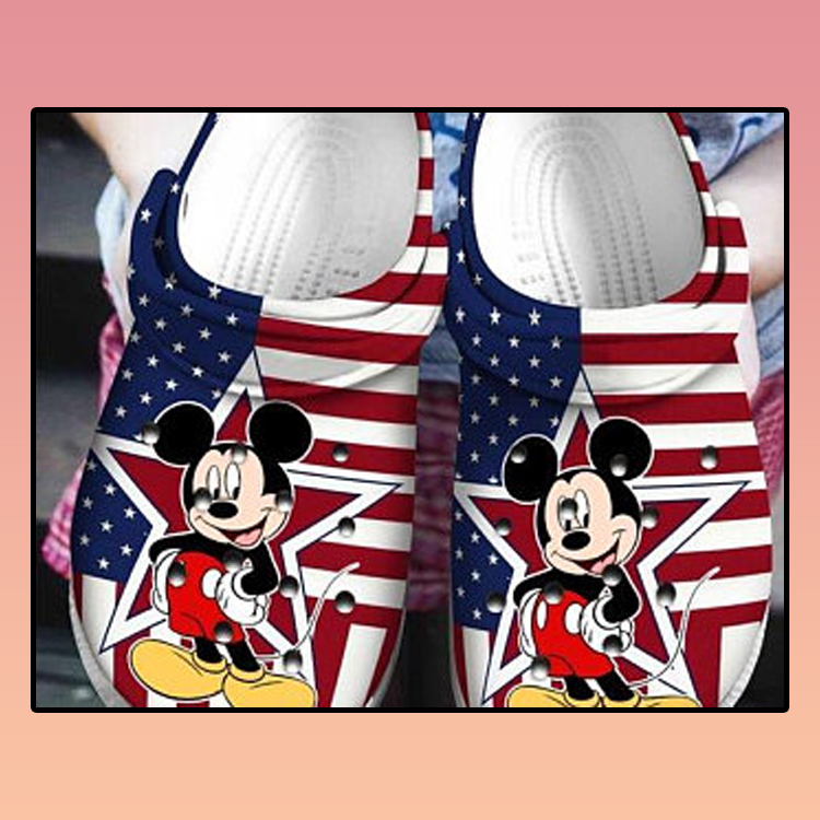 American Flag Mickey Mouse croc crocband shoes3