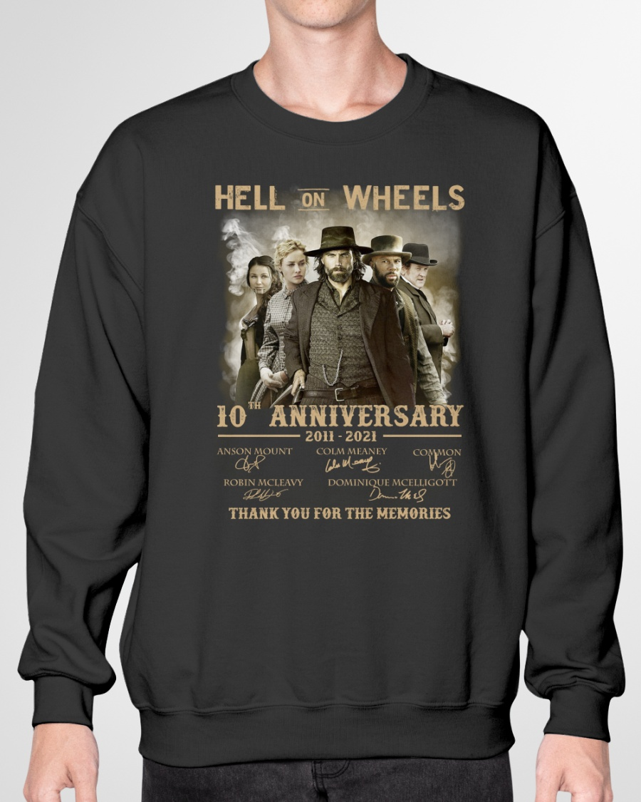 Anson Mount Colm Meaney Common Hell One Wheels 10th Anniversary Shirt4