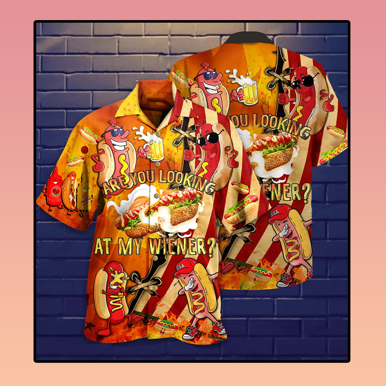 Are you looking at my wiener Hawaiian shirt3