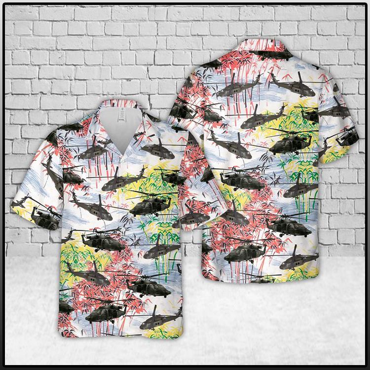 Army Black Hawk Hawaiian Shirt and Short3