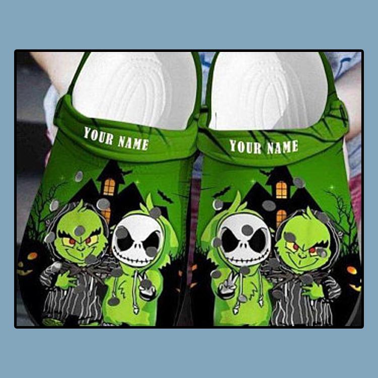 Baby Grinch And Jack Skellington Crocs croc crocband shoes1