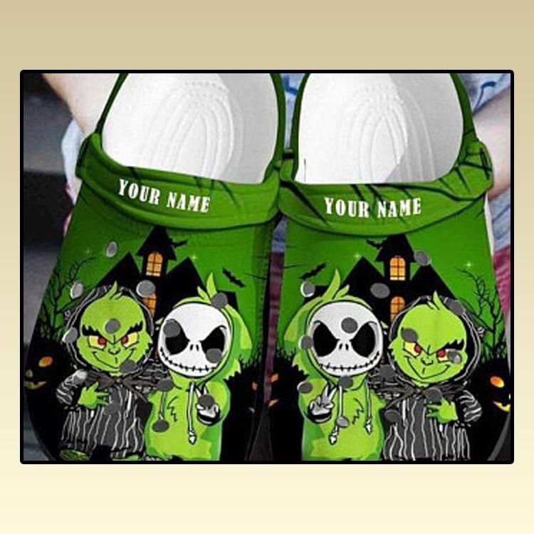 Baby Grinch And Jack Skellington Crocs croc crocband shoes2