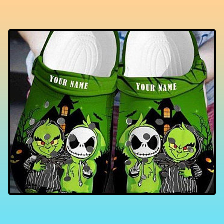 Baby Grinch And Jack Skellington Crocs croc crocband shoes4