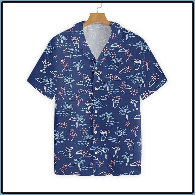 Beach Party Tropical Flamingo Hawaiian Shirt3