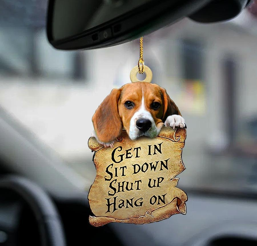 Beagle get in sit down shut up hang out ornament1