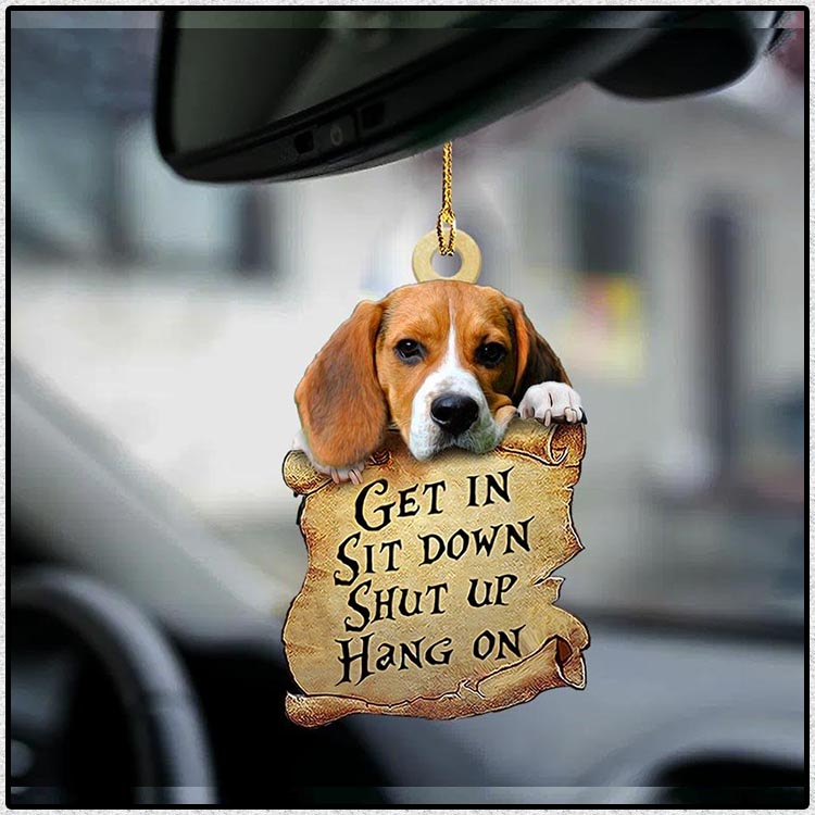Beagle get in sit down shut up hang out ornament4