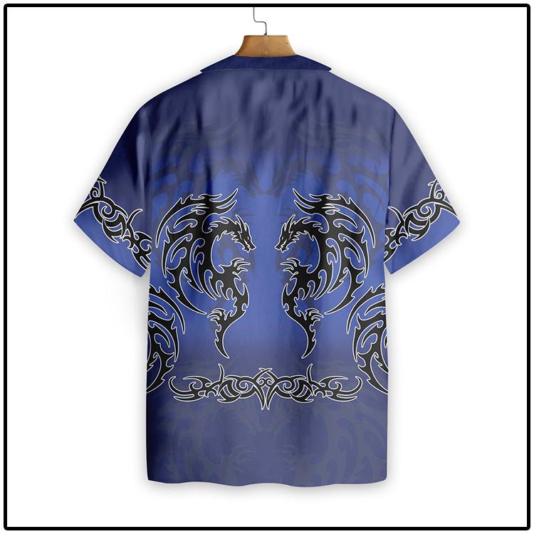 Blue Tribal Dragon Hawaiian Shirt3