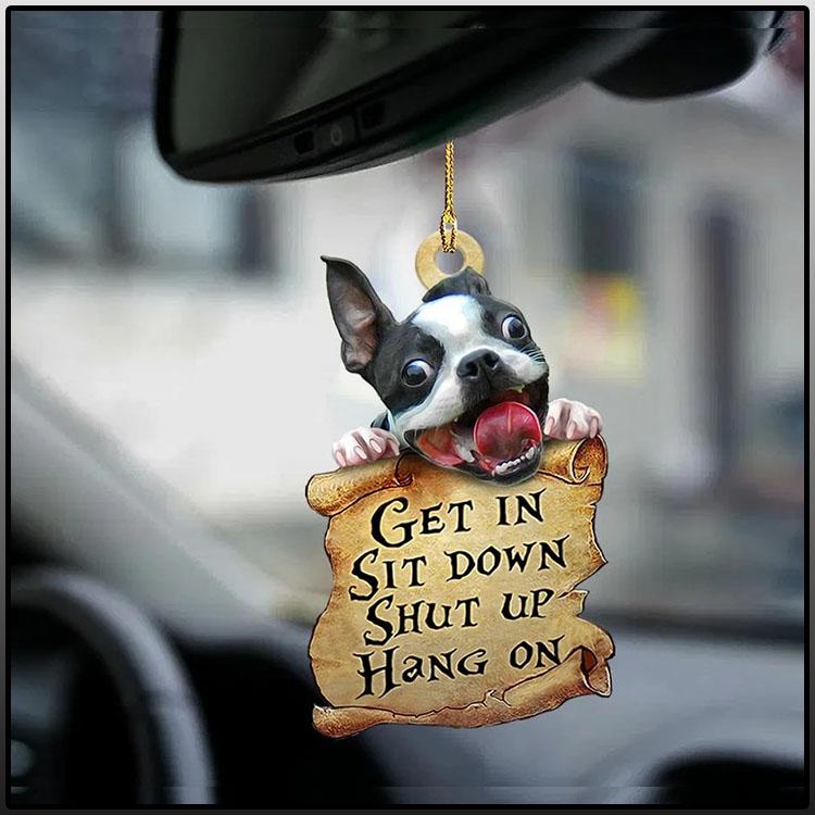Boston terrier get in boston terrier lover two sided ornament2