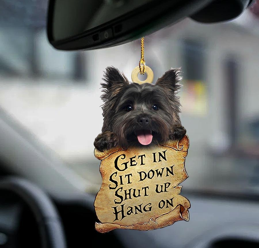 Cairn Terrier get in sit down shut up hang out ornament1