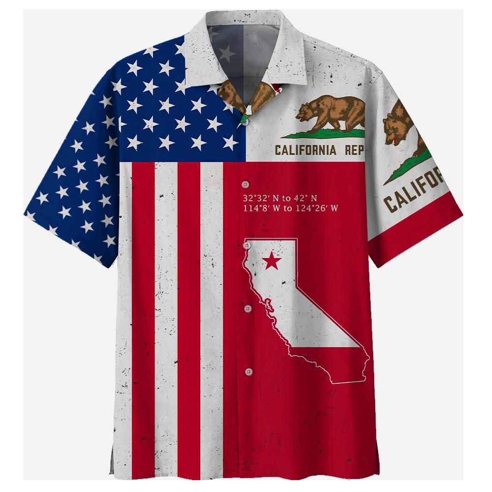 California Bear American Hawaii Shirt and Short1