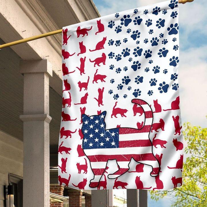 Cat Amercian house flag and garden flag and garden flag3