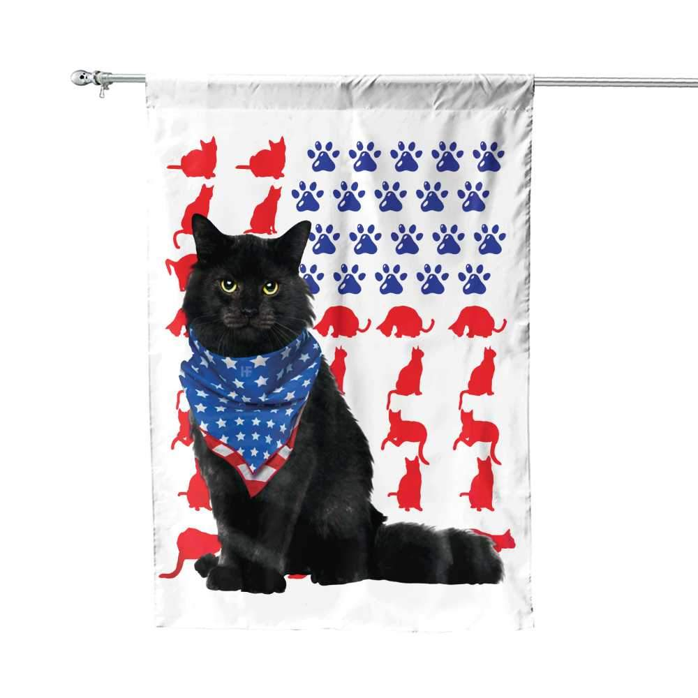 Cat Independence Day 4th Of July American House Flag1