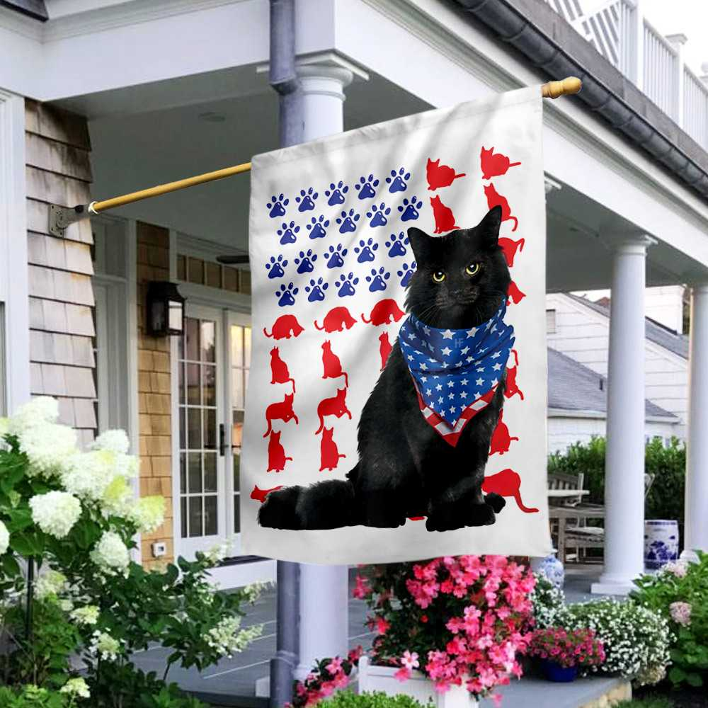 Cat Independence Day 4th Of July American House Flag2