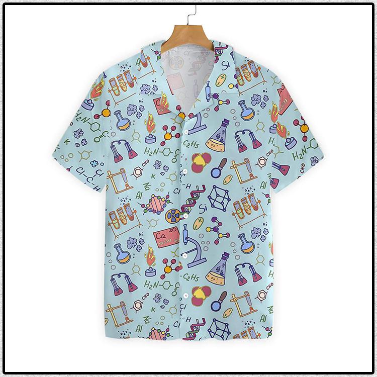 Chemistry Teacher Pattern Hawaiian Shirt3