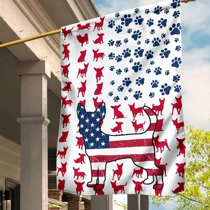 Chihuahua Amercian house flag and garden flag