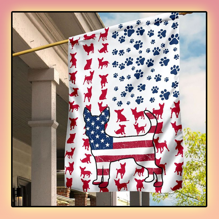 Chihuahua Amercian house flag and garden flag1