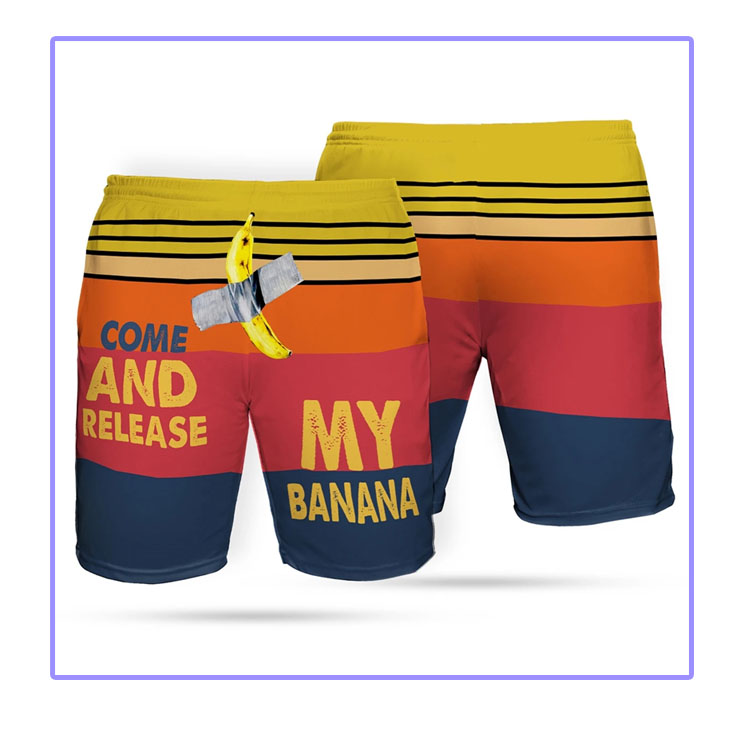 Come And Release My Banana Beach short