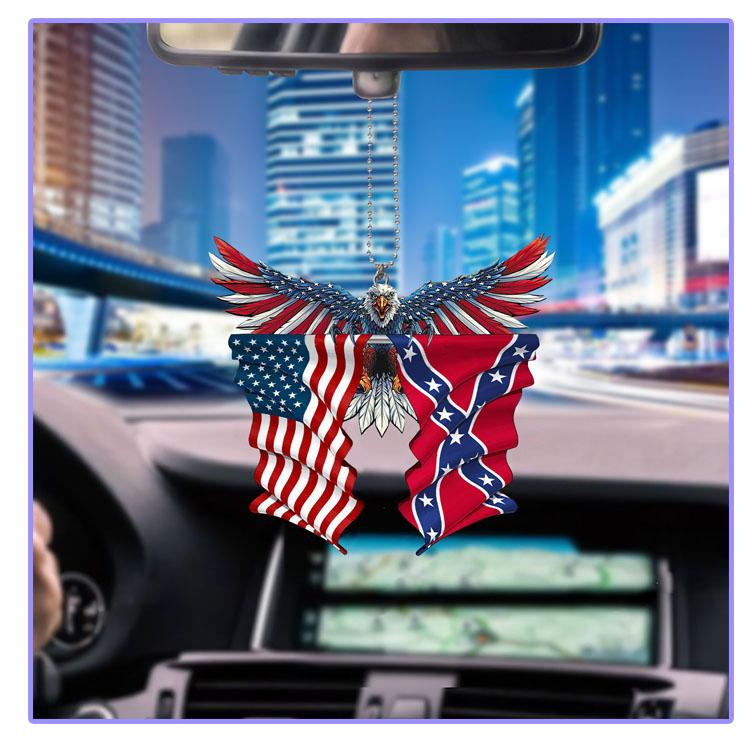 Confederate United States American Eagle flag car hanging ornament7