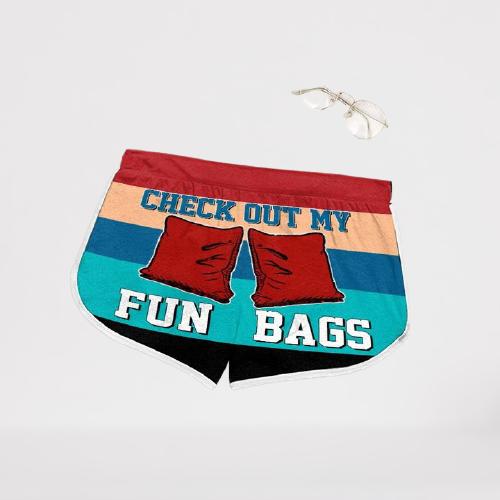 Cornhole Check Out My Fun Bags Hawaiian Shorts1