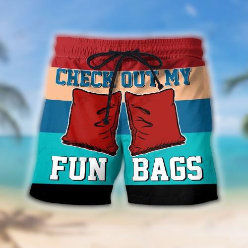 Cornhole Check Out My Fun Bags Hawaiian Shorts4