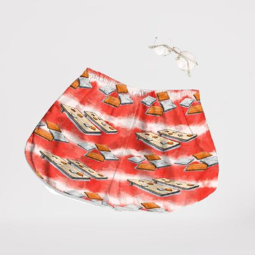 Cornhole Watercolor Hawaiian shirt shorts1