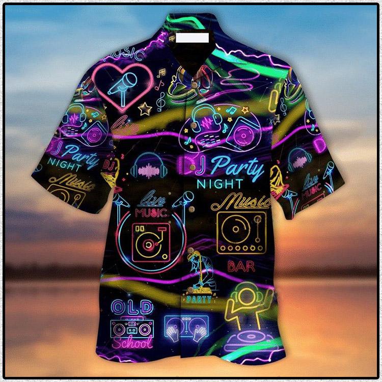 DJ Music Party Night Hawaiian Shirt1