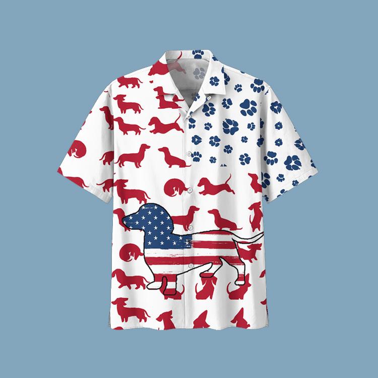 Dachshund Hawaiian shirt1
