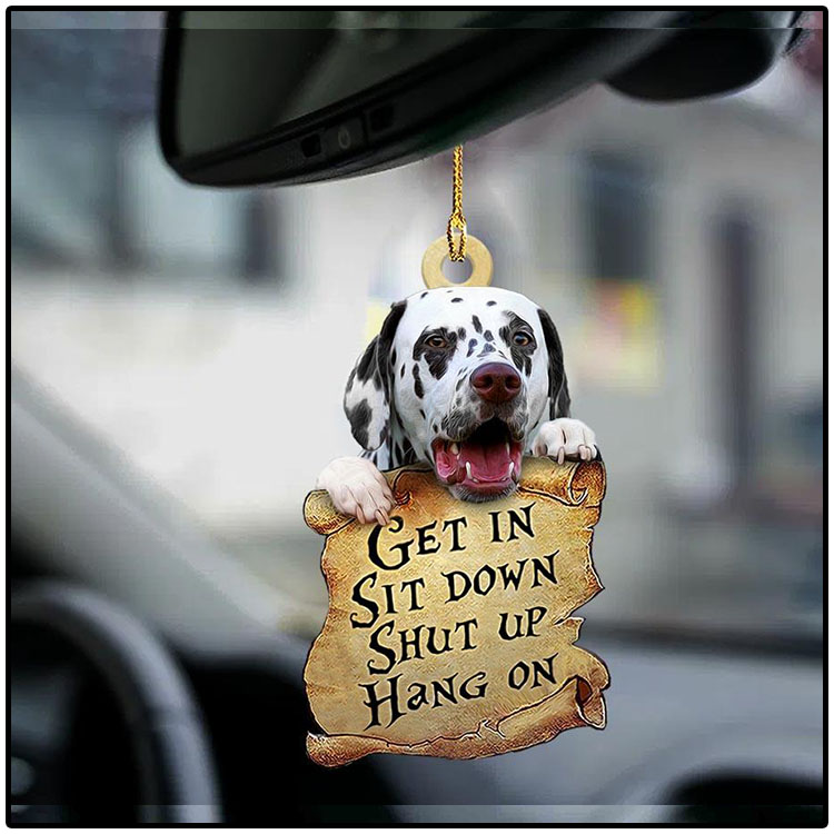 Dalmatian get in sit down shut up hang out ornament4