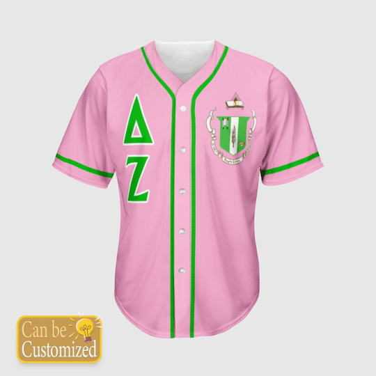 Delta Zeta Personalized Unisex Baseball Jersey1