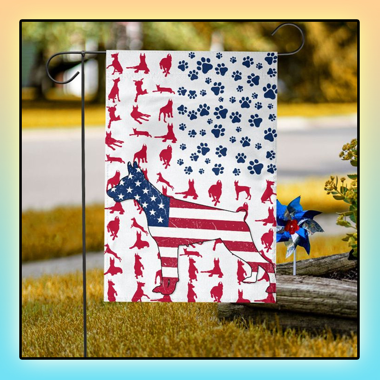 Doberman American house flag and garden flag2