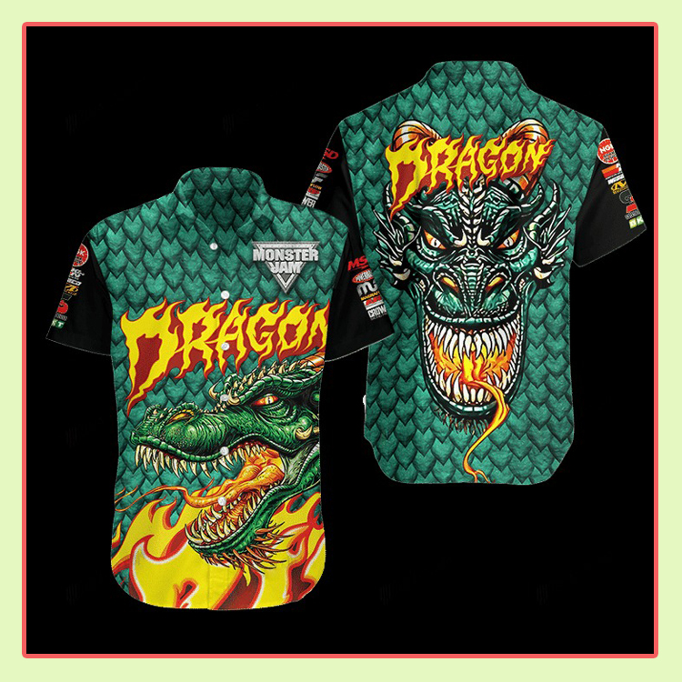 Dragon Monster Truck Hawaiian Shirt3