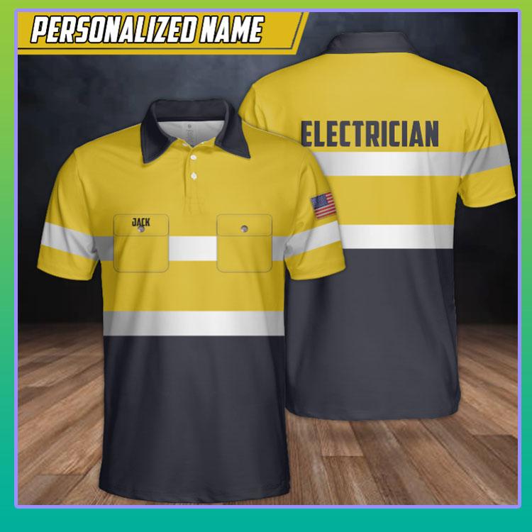 Electrician custom name polo shirt4
