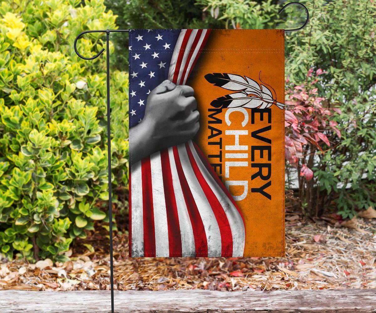 Every Child Matters American Flag Honor Orange Shirt Day September 30 Child Matters Decor2