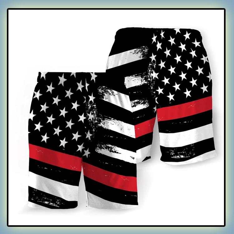 Fire Service American Flag Beach Short